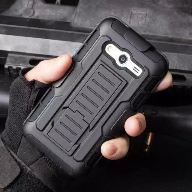 "New Arrival Magnetic Armor Stand PC Leather Case For Samsung GALAXY G360 4.5"" Protector Shell Back Cover Skin"