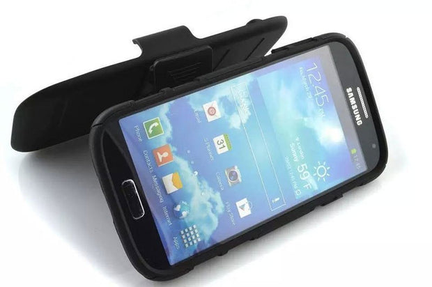"New Arrival Magnetic Armor Stand PC Leather Case For Samsung GALAXY S4 I9500 5"" Protector Shell Back Cover Skin"