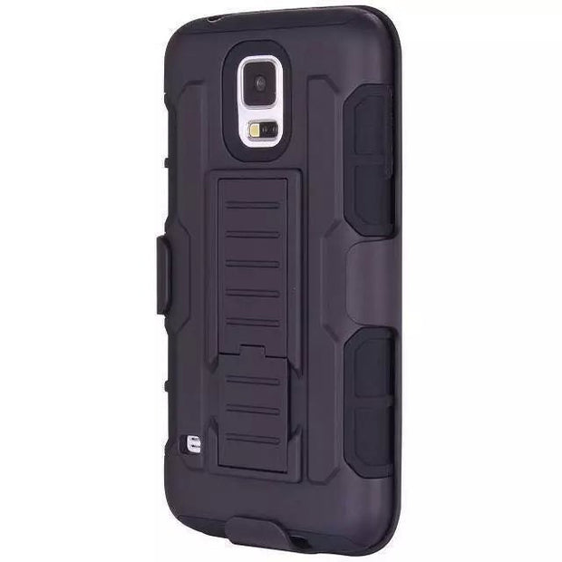 "New Arrival Magnetic Armor Stand PC Leather Case For Samsung GALAXY S5 G9006V 5.1"" Protector Shell Back Cover Skin"
