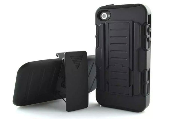 "New Arrival Magnetic Armor Stand PC Leather Case For Iphone 4 4s 4se 3.5"" Inch Protector Shell Back Cover Skin"