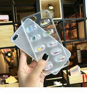 New Capsule Small Man Drop Glue To Prevent Falling Transparent For IPhone XR XS XSMAX 8 8PLUS 7 7PLUS 6 6PLUS Fashion Shell