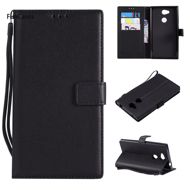 Newest PU Leather Case SFor Estojo Sony L2 Holsters Clips Case Portable Cute Flip Case For Sony Xperia L2 Casca Capinha Bag