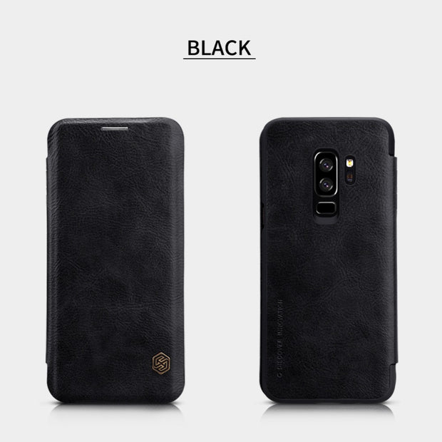 Nillkin Qin Series PU Leather Case For Samsung Galaxy S9 Plus Flip Phone Cover Case For Samsung Galaxy S9 With Card Slots