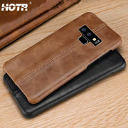Note 9 Genuine Leather Case For Samsung Galaxy Note 9 Note 8 Real Leather Back Case For Samsung S8 S9 Plus Sewing Leather Cover