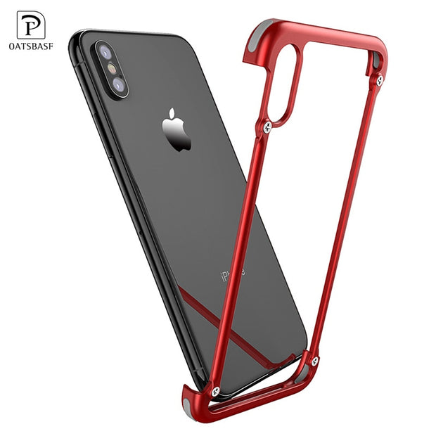 more photos d8d07 6b52a OATSBASF Original X Shape Metal Case For IPhone XS Max Case Personality  Back Cover For IPhone X Shockproof Shell Bumper Case