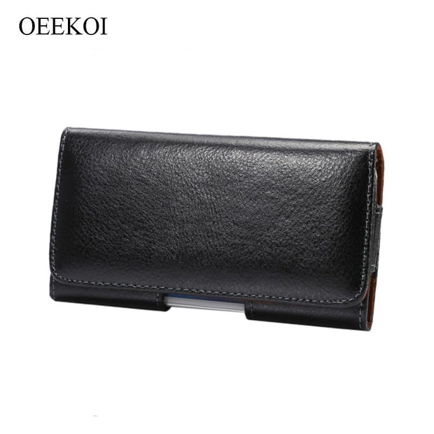 OEEKOI Genuine Leather Belt Clip Pouch Cover Case For Samsung Galaxy S10 Plus/A10/A50/A30/M20/M10/A9 Pro 2019/A8s/A6s