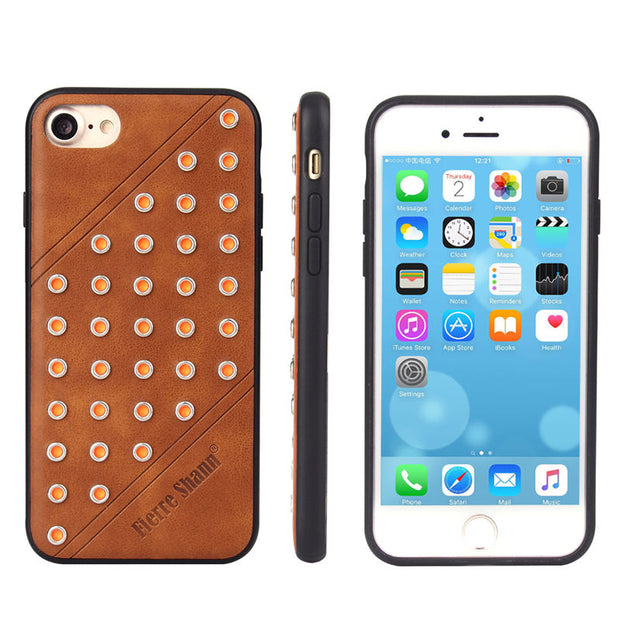 OliveMoon Breathing Phone Case For IPhone 8 7G Ultra-thin Cover PU Leather Back Case For IPhone 7 8 4.7inch Coque