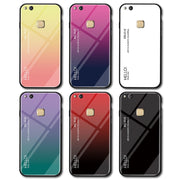 On Hauwei P20 Light Case Gradient Tempered Glass Case For Huawei P10 P20 Lite Pro Plus Luxury Silicone Cases P 20 10 Coque Capa