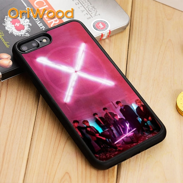 OriWood Monsta X Kpop Band Logo Case Cover For IPhone 5 5S SE 6 6S ...