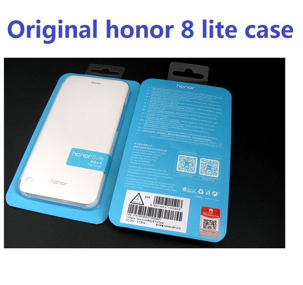 Original Huawei Honor 8 Case Protective Case Funda With View Window Smart Cover For Huawei Honor 8 Lite Flip Cover Leather Case