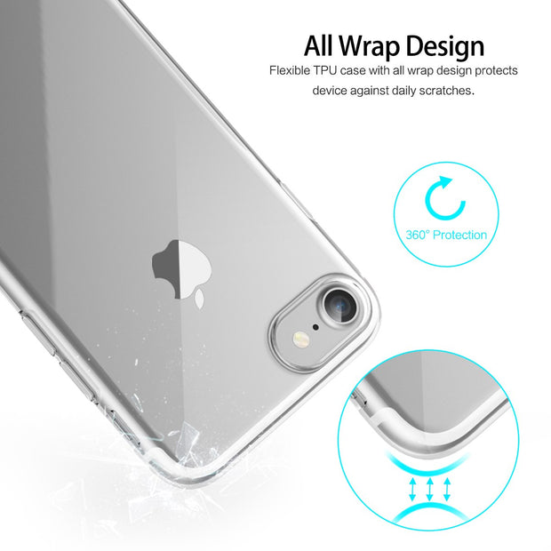 Original ROCK Ultrathin TPU Shell For IPhone 7/7 Plus 0.6mm Brand Phone Cases Transparent Slim Jacket Back Cover For IPhone 7