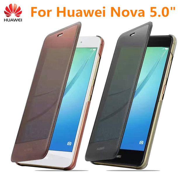 "Original Smart Flip Leather Case Frosted Hard Protector Cover For Huawei Nova 5"" CAN-L11 CAN-L12 CAN-L13 CAZ-AL10 CAN-L01 L02"