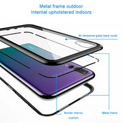 P20lite Case Magnetic Adsorption Tempered Glass Back Cover Phone Cases For Huawei P20 Pro Honor 10 Metal Aluminum Case P20 Lite