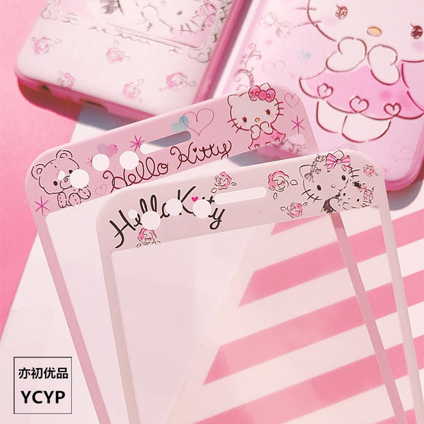 P20pro Pink Hello Kitty Cover For Huawei Nove2s TPU Case & Front Tempered Glass For Huawei P10 /P10 Plus P20 PRO V10 Mate10 Case