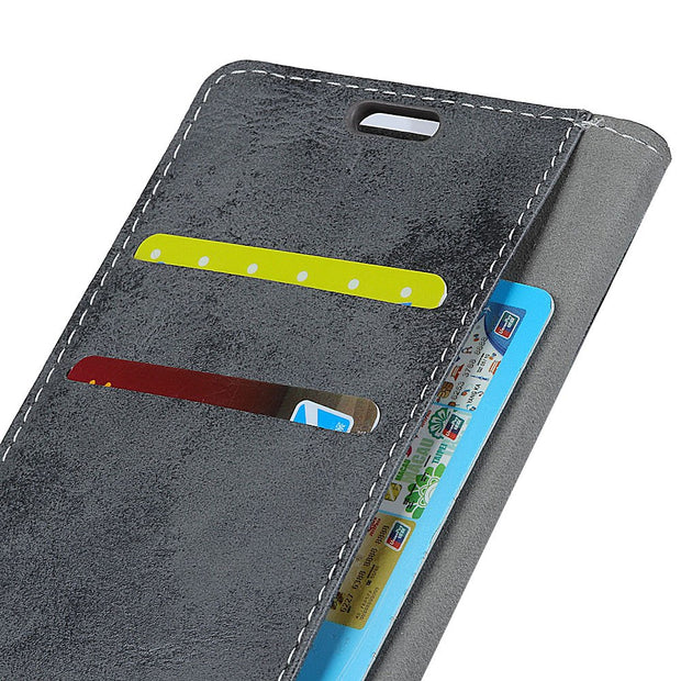 P30 Vintage Matte Retro Wallet PU Leather Flip Stand Card Money Slot Magnetic Snap Business Case For Huawei P30