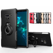 PC Case For Samsung Galaxy Note 9 8 S9 S8 Plus S7 Edge Metal Kickstand Soft TPU Shockproof Case For Samusng A3 A5 A7 2017 Cases