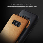 POBLU Luxury Business Vintage Shell For Samsung Galaxy S8 S9 Plus Case Vogue Black Leather Phone Cover For Samsung Note 8/9 Capa
