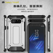 POBLU Outdoor Sports Back Phone Cases For Galaxy Note 8 9 Armor Stand Hard Rugged Impact Coque Cover For Samsung S8 S9 Plus Capa