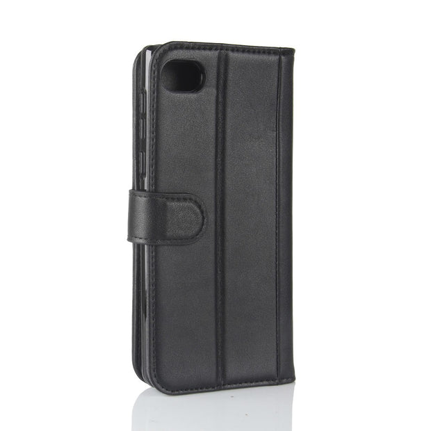 PT-0026 For BlackBerry Motion Phone Protection Shell,Genuine Leather Solid Color Flip Phone Case