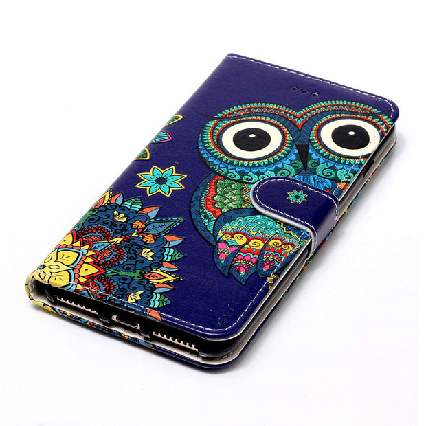 PU Leather Flip Stand Case For IPhone XS Max XR X 6s 7 8 Plus 5S SE IPod Touch 5 6 Case Card Slot Holster Coque Cover Cases B06