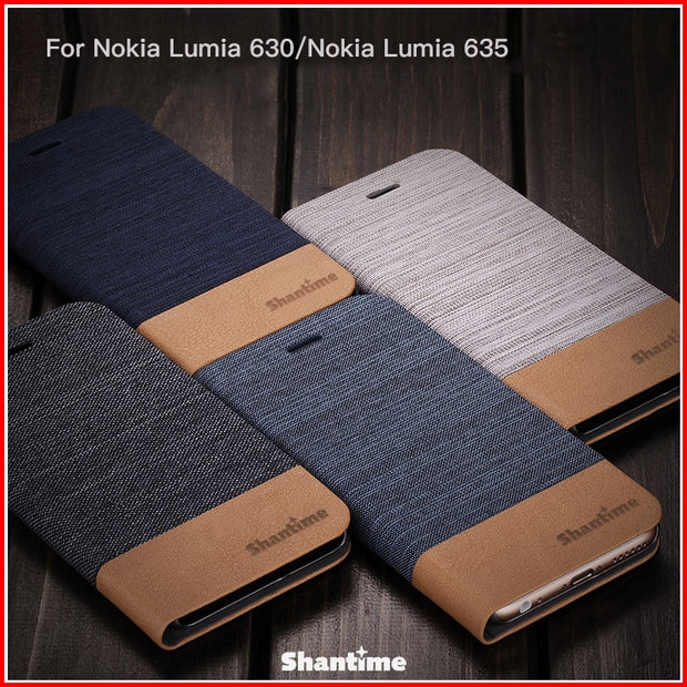 PU Leather Phone Case For Nokia Lumia 630 Flip Case For Nokia Lumia 635 Business Case Soft Silicone Back Cover