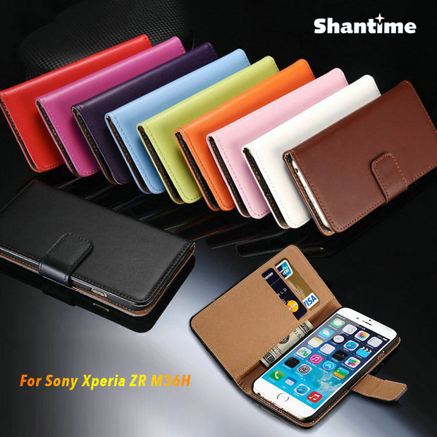 PU Leather Phone Case For Sony Xperia ZR M36H Flip Case For Sony Xperia ZR M36H Business Case Soft Silicone Back Cover