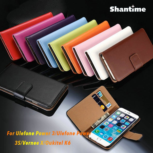 PU Leather Phone Case For Ulefone Power 3 Flip Case For Ulefone Power 3S Vernee X Oukitel K6 Business Case Silicone Back Cover