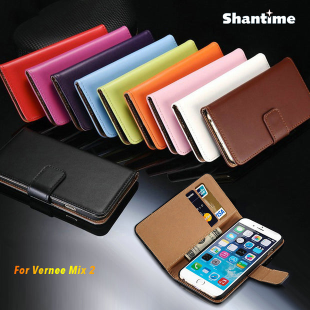 PU Leather Phone Case For Vernee Mix 2 Flip Case For Vernee Mix 2 Business Case Soft Silicone Back Cover