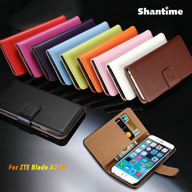 PU Leather Phone Case For ZTE Blade A210 Flip Case For ZTE Blade A210 Business Case Soft Silicone Back Cover