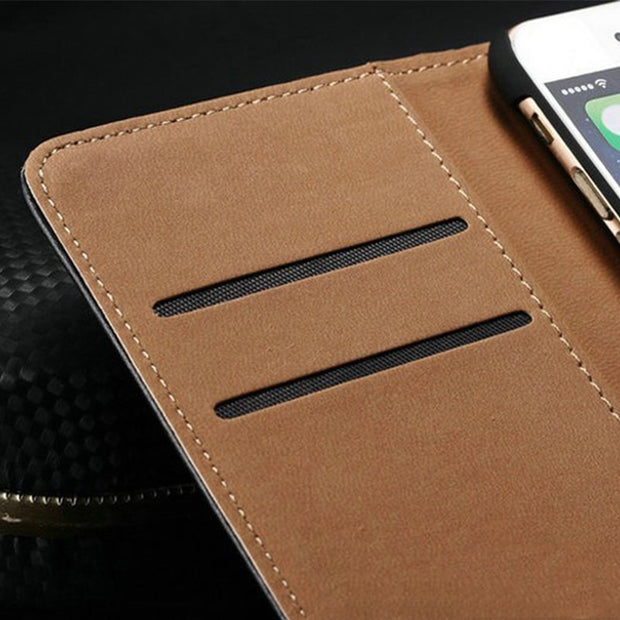 PU Leather Phone Case For ZTE Blade A520 Flip Case For ZTE Blade A520 Business Case Soft Silicone Back Cover