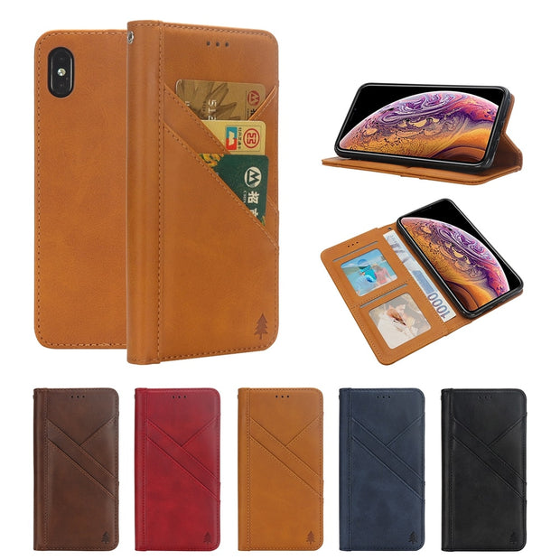 PU Leather Phone Case For Iphone 7 Plus 8 Plus Iphone 8 Wallet Cover For Iphone XS Max XR Iphone 6 S 6s Plus X Card Holder Bag