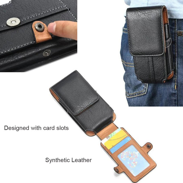 PU Leather Waist Belt Clip Hook Loop Phone Case For VIVO V11 Y83 Pro Z1i Nex A S Y81 V9 Youth X21i X20 Plus X21,OPPO Find X A7