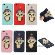 Patch Owl Soft TPU Phone Case For Xiaomi Redmi 4X Compact Safflower Silica Gel Cover Back Case For Redmi 4X Coque Fundas