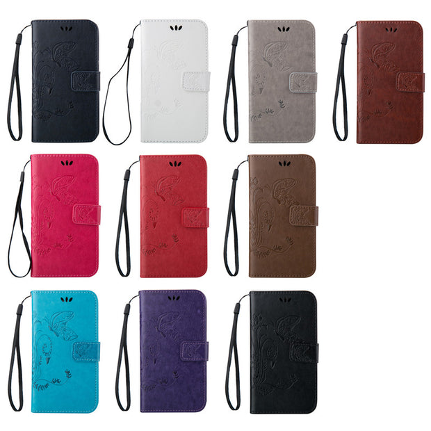 Pattern Leather Phone Case For Samsung Galaxy Core Prime G360 G360H G361 TPU Back Cover Flip Shell Stand Wallet Bag Card Holder