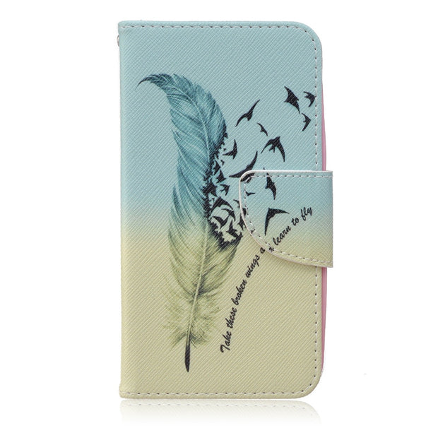 Patterns Flip Case For Huawei Y560 Y560-l01 PU Leather + Silicone Wallet Cover For Huawei Cases Phone Covers Fundas Coque Capa