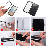 Phone Case Magnetic Adsorption Full Cover Back Case For IPhone 6/7/8 Plus IPhone X/XS LCC77