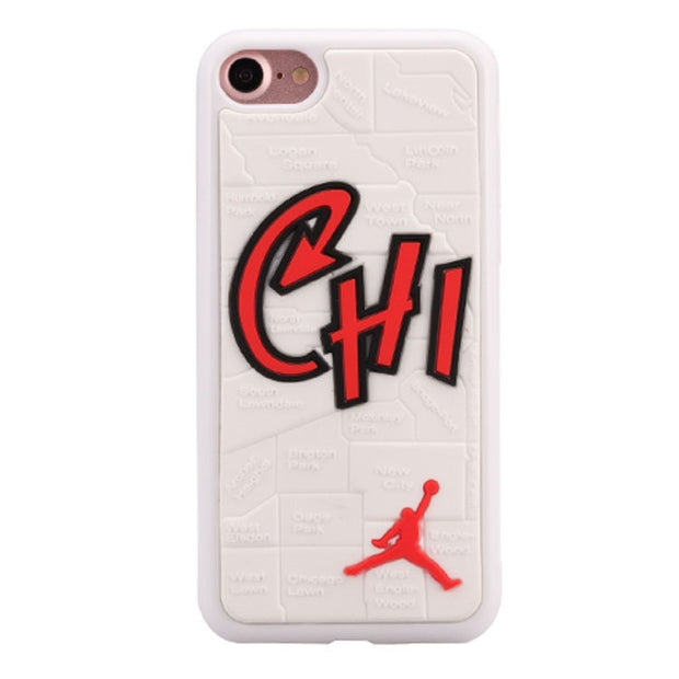 Phone Cases For Apple IPhone 6 6s 7 Plus Case Cute 3D Jordan World Map Case Soft Silicon Cover Couque For Iphone 8 Souple Cases