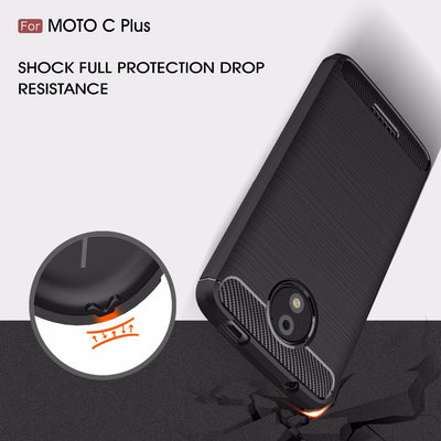 Phone Cases For MOTO C Plus Case Cover Siclione TPU Carbon Fiber Case For MOTO C Plus Coque Capa