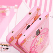 Pink Sakura Cover For Huawei V10 P10 Plus TPU Case + Front Tempered Glass For Huawei Mate 10 /mate9pro Mate 9 Magic Array+strap