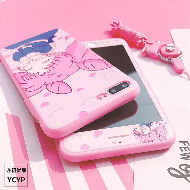 Pink Sailor Moon Cover For Huawei P20 /P20pro /nova3/2s TPU Case & Front Tempered Glass For Huawei P10 /P10plus V10 Mate9/10