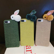 Plush Fabrics Phone Case For IPhone X 8 7 6S 6 Plus XS XR MAX Warm Plush Fashion Capa Soft Color Back Cover Cases