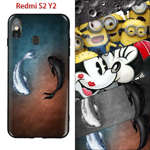 Print Cool Silicon Case For Xiaomi Redmi S2 Case Soft TPU Fundas For Xiaomi Redmi S2 Cover Cute Cartoon RedmiS2 Redmi Y2 Housing