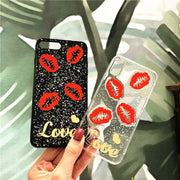 Promotion Limited For Apple Iphones Sexy Lips Dynamic Liquid Quicksand Phone For Iphone X 7 8 6 6s 6plus 7plus Plus Back Cases