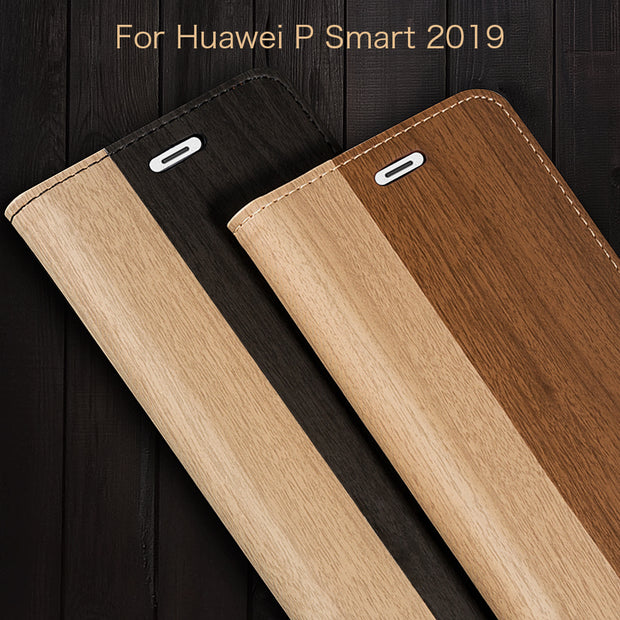 Pu Leather Phone Case For Huawei P Smart 2019 Flip Book Case For Huawei P Smart 2019 Business Case Soft Tpu Silicone Back Cover