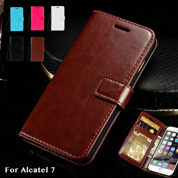 Pu Leather Wallet Case For Alcatel 7 Business Phone Case For Alcatel 7 Flip Book Case Soft Tpu Silicone Back Cover