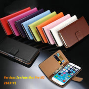 Pu Leather Wallet Case For Asus Zenfone Max Pro M2 ZB631KL Business Phone Case Flip Book Case Soft Tpu Silicone Back Cover