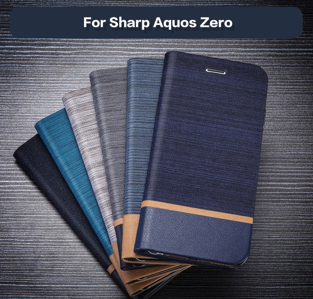 Pu Leather Wallet Case For Sharp Aquos Zero Business Phone Case For Sharp Aquos Zero Flip Book Case Soft Tpu Silicone Back Cover