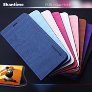 Pu Leather Wallet Phone Bag Case For Infinix Hot 4 Flip Book Case For Infinix Hot 4 Business Case Soft Tpu Silicone Back Cover