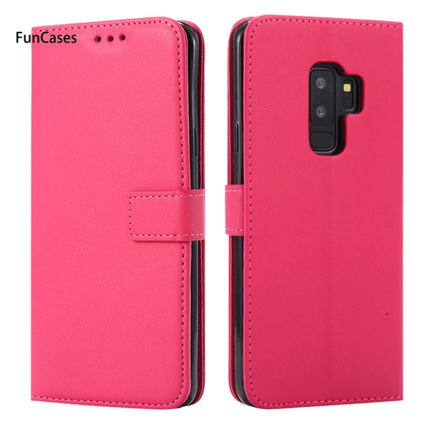Pure Color Flip Phone Case SFor Cellular Samsung S9 Plus Soft Silicone Phone Case Para Flip Phone Case Samsung Galaxy S9 Plus