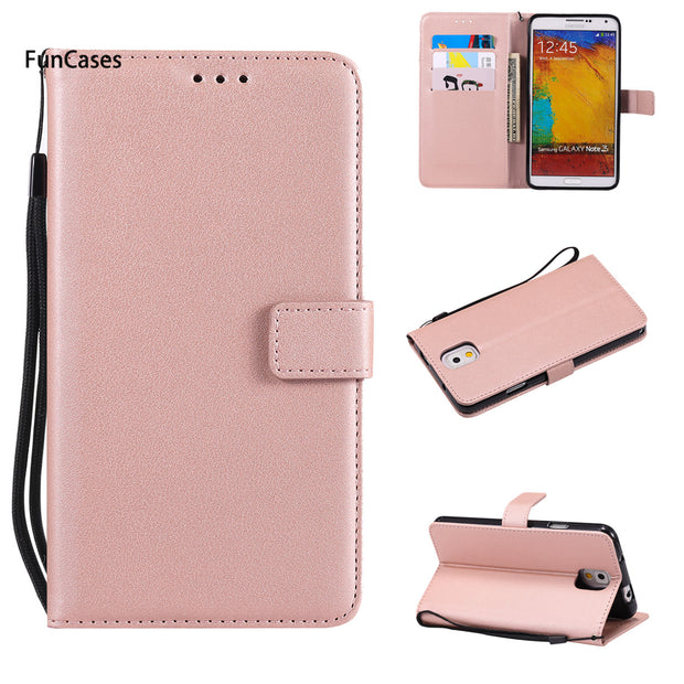 Pure Color PU Leather Case SFor Aksesuar Samsung Note 3 Soft TPU Phone Case Casa Vintage Bumper Case For Samsung Galaxy N9009